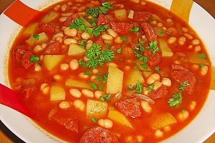 Judias con chorizo (spanischer Bohneneintopf) 1