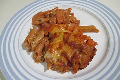 Nudelauflauf mit Fleischwurst und Karotten 1