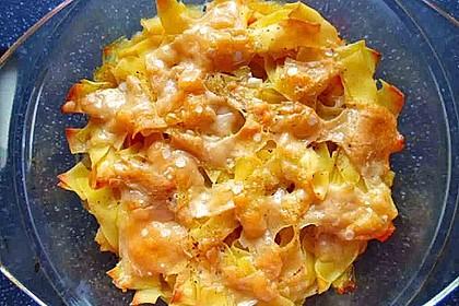 Nudelauflauf mit Fleischwurst und Karotten