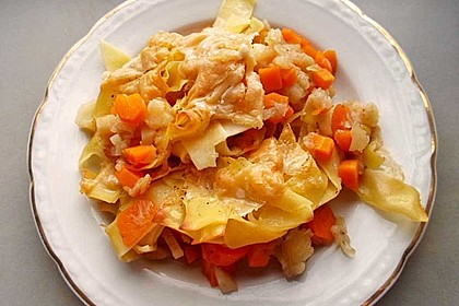 Nudelauflauf mit Fleischwurst und Karotten 2