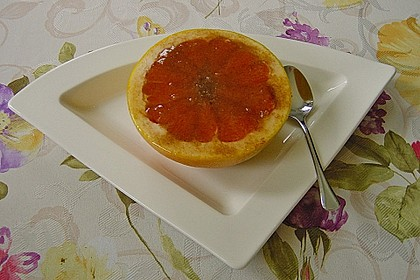 Grapefruit mit Zimt - Zuckerkruste 7