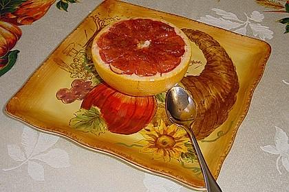 Grapefruit mit Zimt - Zuckerkruste 2