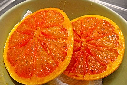 Grapefruit mit Zimt - Zuckerkruste 5