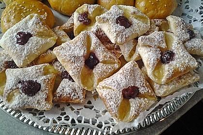 Schnelle Blätterteig - Vanillepuddingteilchen 11