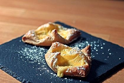 Schnelle Blätterteig - Vanillepuddingteilchen 2