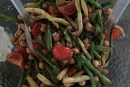 Bohnen - Tomaten - Salat mit Kichererbsen 2