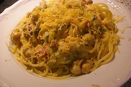 Nudeln mit cremiger Champignon - Lauch - Soße 6