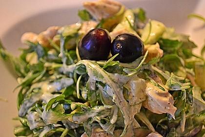 Hühnchen - Rucola - Gurken - Trauben Salat 1