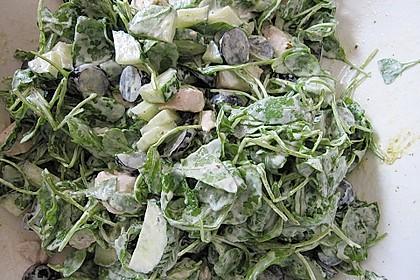 Hühnchen - Rucola - Gurken - Trauben Salat 4