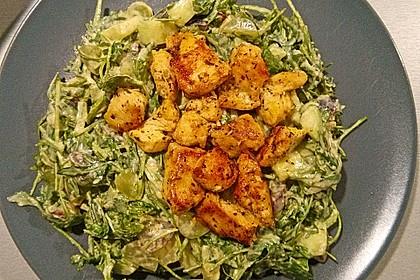 Hühnchen - Rucola - Gurken - Trauben Salat 5