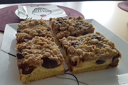 Pflaumen - Quark - Kuchen mit Streuseln (Bild)