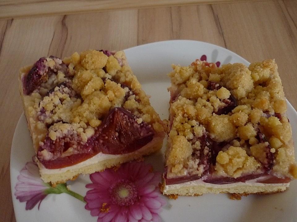 Pflaumen Quark Kuchen Mit Streuseln Von Daxi75 Chefkoch De