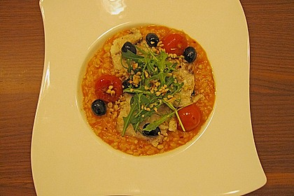 Gebratener Kabeljau auf Tomatenrisotto 1