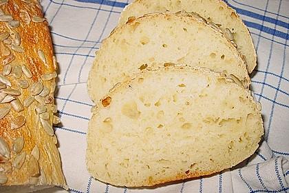 Frischkäsebrotstange mit Kräutern und Sesamkruste 4