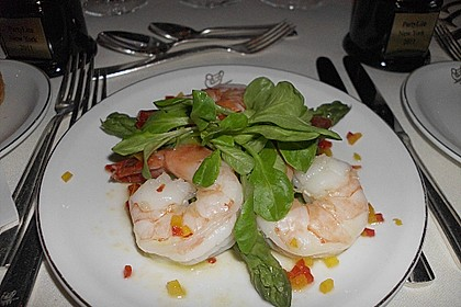 Riesengarnelen - Salat mit grünem Spargel