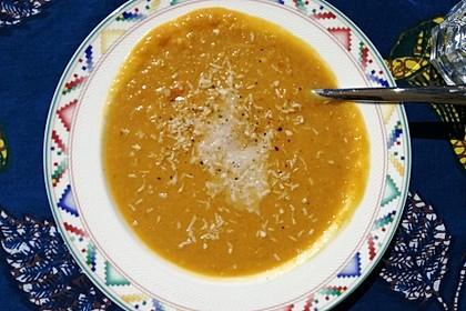 Süßkartoffel - Linsensuppe mit Kokosmilch 3