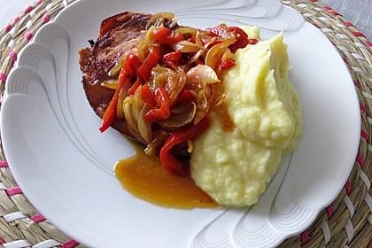 Paprika - Zwiebel Schmorgemüse (Bild)