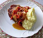 Paprika - Zwiebel Schmorgemüse