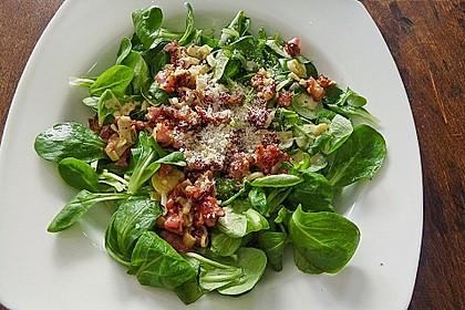 Feldsalat mit Orangen-Speck Sauce 4