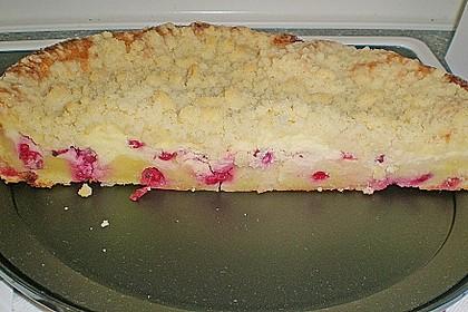 Ribisel-Topfen Kuchen mit Streusel 20