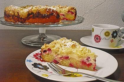 Ribisel-Topfen Kuchen mit Streusel 11