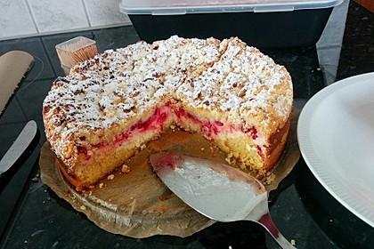 Ribisel-Topfen Kuchen mit Streusel 17