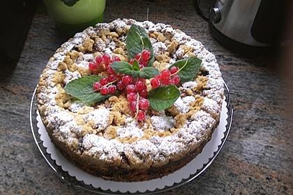 Ribisel-Topfen Kuchen mit Streusel 3