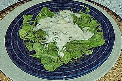 Rucolasalat im warmen Käsebett 1