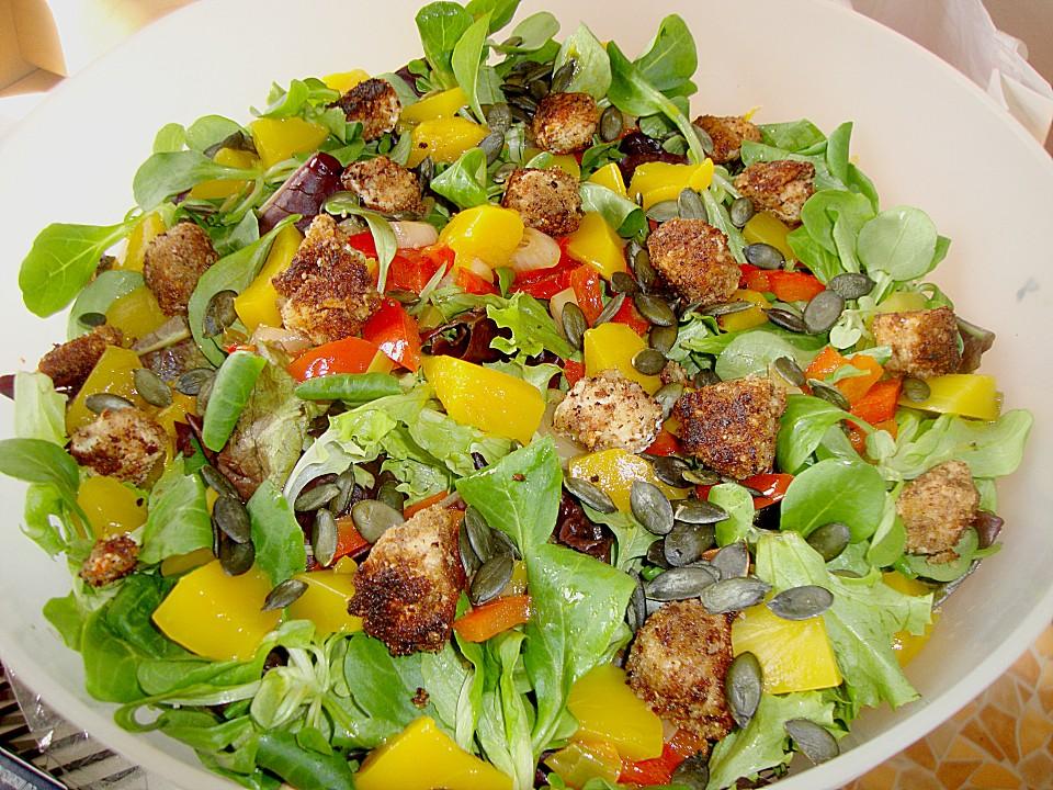 Blattsalat Mit Mango Und Schafskäse Chefkoch