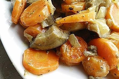Sahniges Karotten - Zucchini - Gemüse