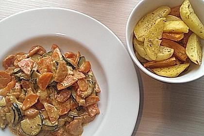 Sahniges Karotten - Zucchini - Gemüse 1