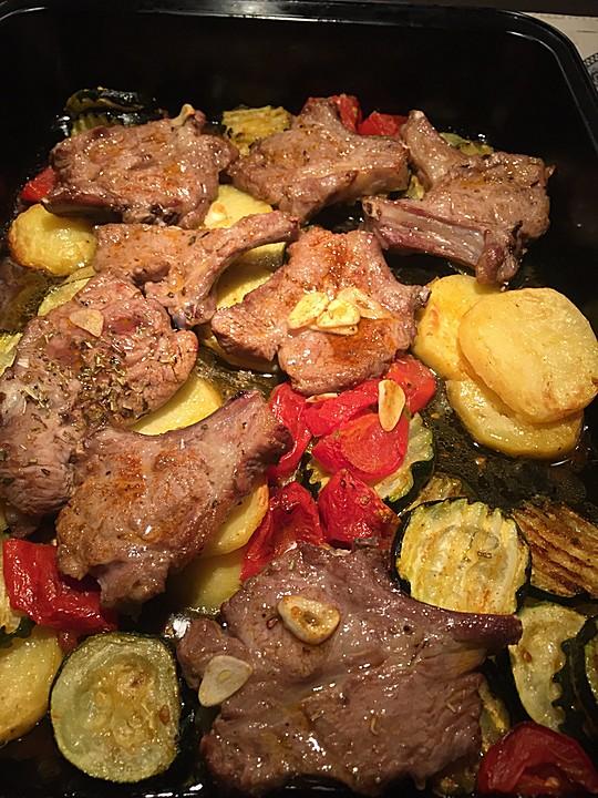 Blechkartoffeln Mit Lammkotelett Von Ruzamoja Chefkochde