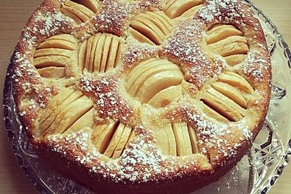 Einfacher versunkener Apfelkuchen 11