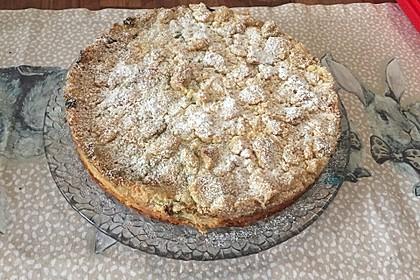 Rhabarberkuchen mit Vanillecreme und Streusel 62