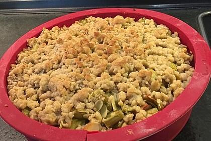 Rhabarberkuchen mit Vanillecreme und Streusel 61