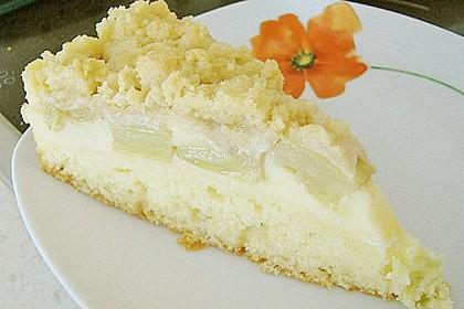 Rhabarberkuchen mit Vanillecreme und Streusel 151