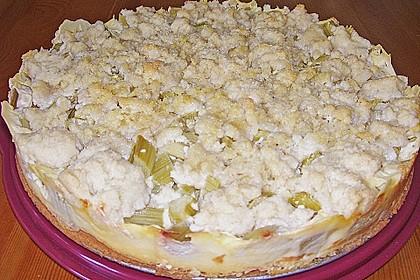 Rhabarberkuchen mit Vanillecreme und Streusel 152