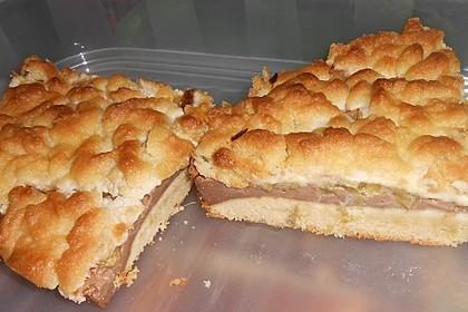 Rhabarberkuchen mit Vanillecreme und Streusel 31