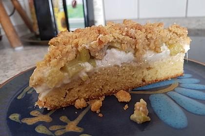 Rhabarberkuchen mit Vanillecreme und Streusel 32