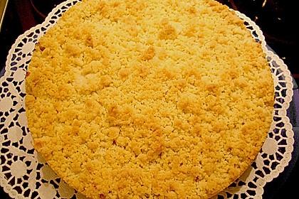 Rhabarberkuchen mit Vanillecreme und Streusel 168