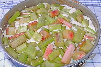 Rhabarberkuchen mit Vanillecreme und Streusel 230