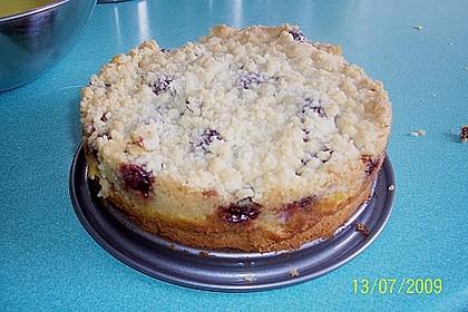 Rhabarberkuchen mit Vanillecreme und Streusel 177