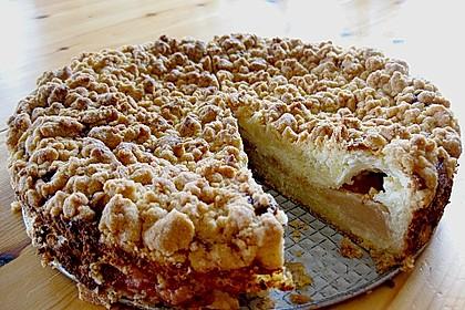 Rhabarberkuchen mit Vanillecreme und Streusel 129