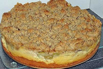 Rhabarberkuchen mit Vanillecreme und Streusel 121