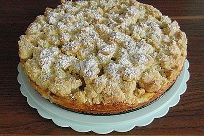 Rhabarberkuchen mit Vanillecreme und Streusel 91