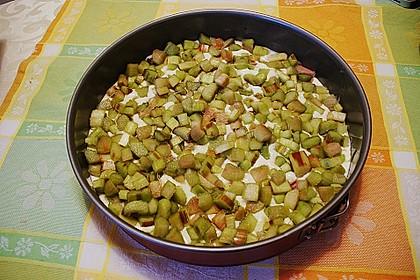 Rhabarberkuchen mit Vanillecreme und Streusel 194
