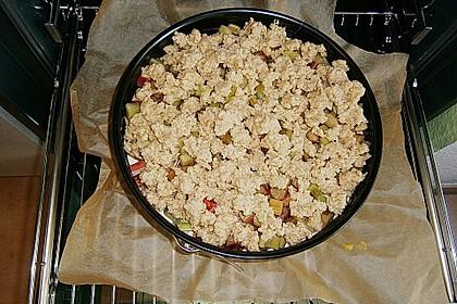 Rhabarberkuchen mit Vanillecreme und Streusel 154