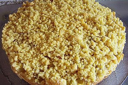 Rhabarberkuchen mit Vanillecreme und Streusel 111