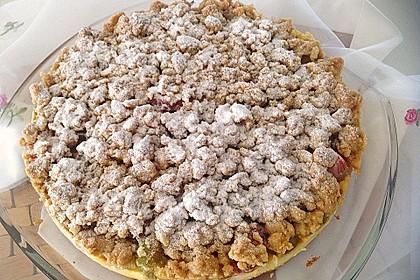 Rhabarberkuchen mit Vanillecreme und Streusel 134