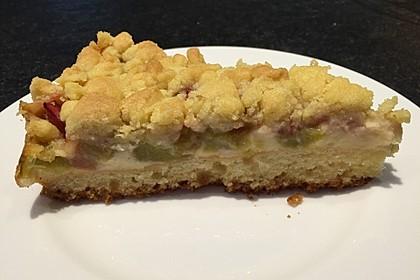Rhabarberkuchen mit Vanillecreme und Streusel 35